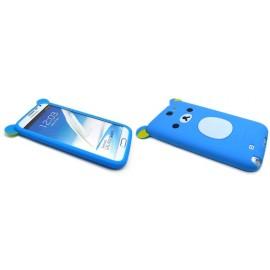 Coque pour Samsung Galaxy Note 2 - N7100  silicone koala bleu + film protection écran offert