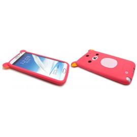Coque pour Samsung Galaxy Note 2 - N7100  silicone koala rose + film protection écran offert