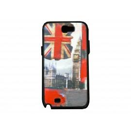Coque pour Samsung Galaxy Note 2 - N7100  drapeau Angleterre/UK Big Ben version 2  + film protection écran offert