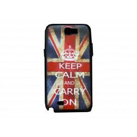 Coque pour Samsung Galaxy Note 2 - N7100  drapeau Angleterre/UK vintage version 3  + film protection écran offert