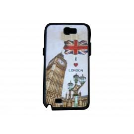 "Coque pour Samsung Galaxy Note 2 - N7100  drapeau Angleterre/UK ""I love London"" version 2  + film protection écran offert"