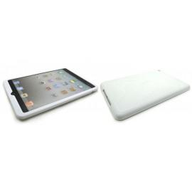 Coque silicone pour Ipad Mini blanche + film protection écran offert