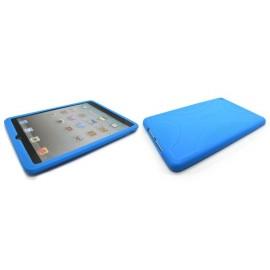 Coque silicone pour Ipad Mini bleue + film protection écran offert