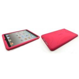 Coque silicone pour Ipad Mini rose + film protection écran offert
