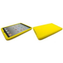 Coque silicone pour Ipad Mini jaune + film protection écran offert