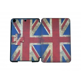 Pochette Ipad Mini drapeau UK/Angleterre vintage + film protection écran offert