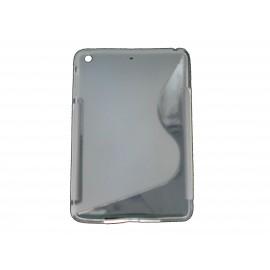 """Coque silicone pour Ipad Mini """"S"""" grise + film protection écran offert"""