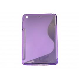 """Coque silicone pour Ipad Mini """"S"""" violette + film protection écran offert"""