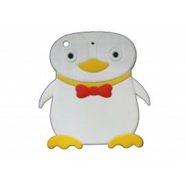 Coque silicone pour Ipad Mini pingouin blanc + film protection écran offert