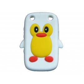Coque pour Blackberry Curve 9320 silicone pingouin blanc + film protection écran offert