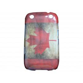 Coque pour Blackberry Curve 9320 drapeau canada vintage + film protection écran offert