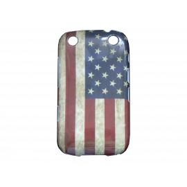 Coque pour Blackberry Curve 9320 drapeau USA/Etats-Unis vintage + film protection écran offert