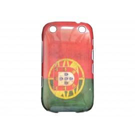 Coque pour Blackberry Curve 9320 drapeau Portugal vintage + film protection écran offert
