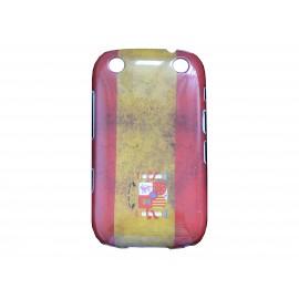Coque pour Blackberry Curve 9320 drapeau Espagne vintage + film protection écran offert