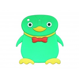 Coque silicone pour Ipad Mini pingouin vert+ film protection écran offert