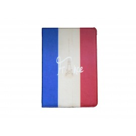 Pochette Ipad Mini drapeau France vintage version 2 + film protection écran offert