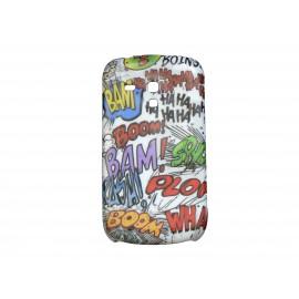 Coque pour Samsung Galaxy S3 Mini/ I8190 bande déssinée+ film protection écran offert