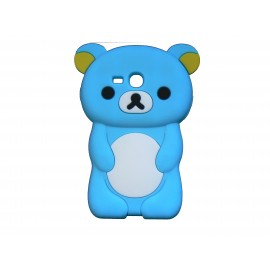 Coque silicone pour Samsung Galaxy S3 Mini/ I8190 ourson bleu turquoise + film protection écran offert