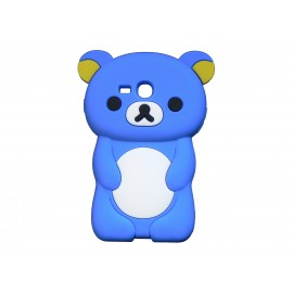 Coque silicone pour Samsung Galaxy S3 Mini/ I8190 ourson bleu + film protection écran offert