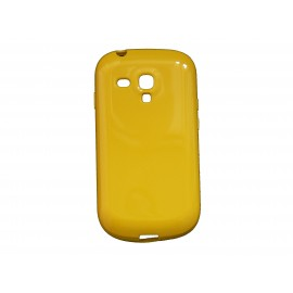 Coque pour Samsung Galaxy S3 Mini/ I8190 en silicone glossy jaune + film protection écran offert