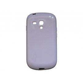 Coque pour Samsung Galaxy S3 Mini/ I8190 en silicone glossy blanche + film protection écran offert