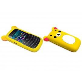 Coque pour Blackberry Curve 9320 silicone koala jaune + film protection écran offert