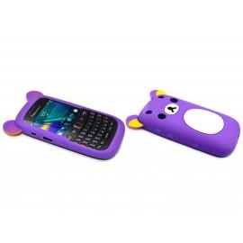 Coque pour Blackberry Curve 9320 silicone koala bleue lavande + film protection écran offert
