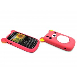 Coque silicone pour Blackberry 8520 curve koala rose fuschia + film protection ecran offert
