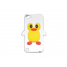 Coque silicone pour Ipod Touch 5 pingouin blanc + film protection écran