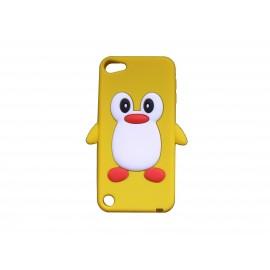 Coque silicone pour Ipod Touch 5 pingouin jaune + film protection écran