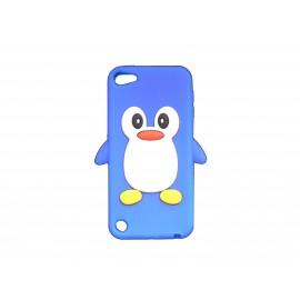 Coque silicone pour Ipod Touch 5 pingouin bleu + film protection écran