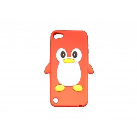 Coque silicone pour Ipod Touch 5 pingouin rouge + film protection écran