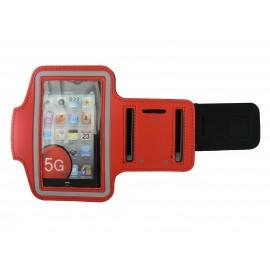 Brassard rouge pour Iphone 5 - Ipod Touch 5 pourtour phosphorescent