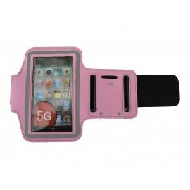Brassard rose pour Iphone 5 - Ipod Touch 5 pourtour phosphorescent