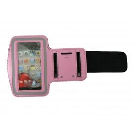 Brassard rose pour Iphone 3G - Iphone 4 - Ipod Touch 4 pourtour phosphorescent