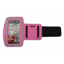 Brassard rose bonbon pour Iphone 3G - Iphone 4 - Ipod Touch 4 pourtour phosphorescent