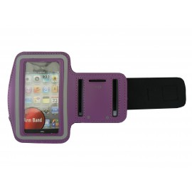 Brassard violet pour Iphone 3G - Iphone 4 - Ipod Touch 4 pourtour phosphorescent