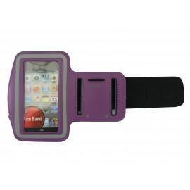 Brassard violet pour Iphone 3G - Iphone 4 - Ipod Touch 4 pourtour phosphorescent