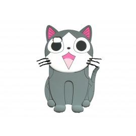 Coque silicone pour Ipod Touch 4 chat gris + film protection écran
