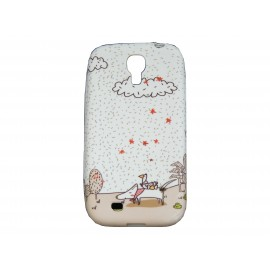 Coque  pour Samsung Galaxy S4 / I9500 silicone chien foulard rose + film protection écran offert