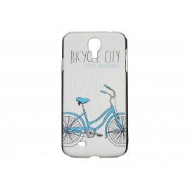 Coque  pour Samsung Galaxy S4 / I9500 vélo bleu + film protection écran offert