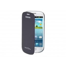 Pochette Etui à rabat origine Samsung Galaxy S3 mini / I8190 bleu nuit  + film protectin écran