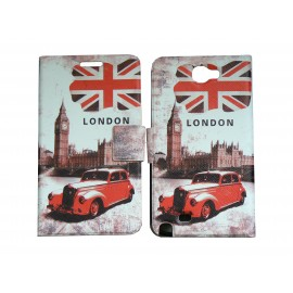 Pochette pour Samsung Galaxy Note 2 / N7100 simili-cuir Big Ben / UK Angleterre + film protectin écran