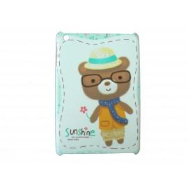 Coque pour Ipad Mini ourson à lunette + film protection écran offert
