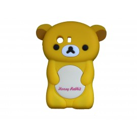 Coque silicone pour Samsung Galaxy Y/S5360 ourson jaune + film protection écran offert