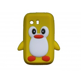 Coque silicone pour Samsung Galaxy Y/S5360 pingouin jaune + film protection écran offert