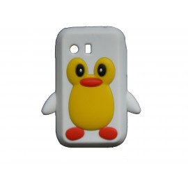 Coque silicone pour Samsung Galaxy Y/S5360 pingouin blanc + film protection écran offert