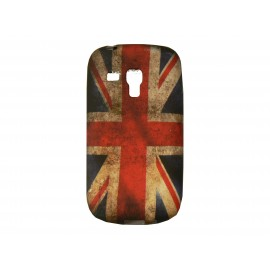 Coque pour Samsung Galaxy S3 Mini/ I8190 silicone UK/Angleterre vintage + film protection écran offert