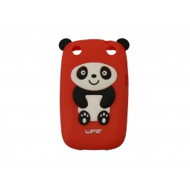 Coque pour Blackberry Curve 9320 silicone panda rouge oreilles noires + film protection écran offert