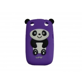 Coque pour Blackberry Curve 9320 silicone panda violet oreilles noires + film protection écran offert